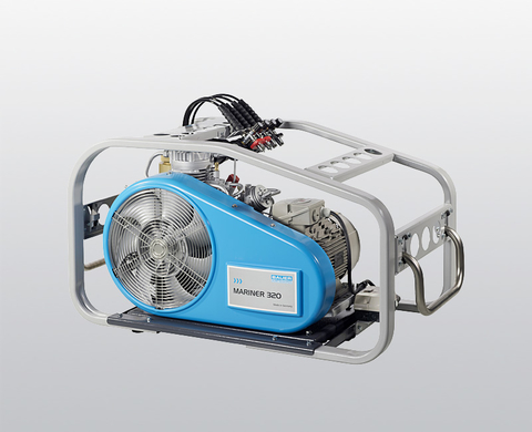 BAUER MARINER 320 breathing air compressor with electric motor