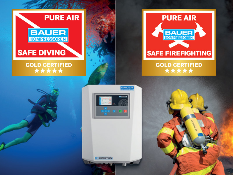 BAUER PureAir GOLD certification with B-DETECTION PLUS